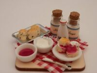 Dolls house food: Making homemade scones  prep board  -By Fran