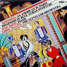 Rare 1975 Gershwin Album Cover~Small Art Deco Jazz Age Poster~Lorin Maazel