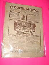 CORRIERE DEI PICCOLI anno 1910 n. 26 con sovracopertina pubblicitaria