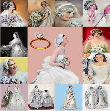 VINTAGE WEDDING Brides MATRIMONIO STOCK IMMAGINI CARTOLINE ETICHETTE DECORAZIONI PER CD