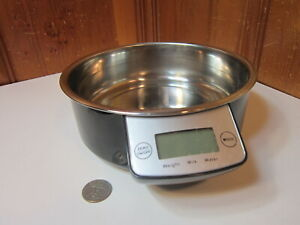 "Intelligent 7"" Pet Bowl Electronic Battery 11 lb Scale Dog Cat Diet Food Liquids"