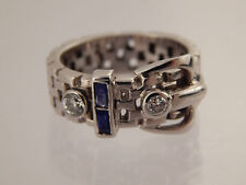 Handmade .40 ct  ART DECO Diamond H/VS Ring Belt Buckle One of a Kind 14k WG