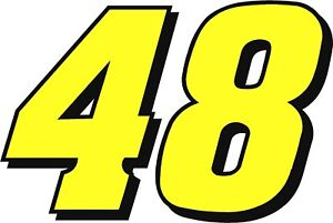 NEW FOR 2021 #48 Alex Bowman Racing Sticker Decal - Sm thru XL various colors