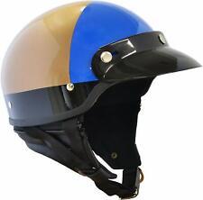 Marushin MP1105 Bike Helmet Half Mp-110 U.s.a Police Style Gold Blue Free Size