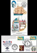 """Carte Maxi USA-FRANCE """"Escale 19 Rochefort - L'HERMIONE / Indépendance US"""" 2015"""
