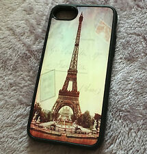 iPhone 7 / 8 - Hard TPU Gummy Rubber Skin Case Cover Paris Eiffel Tower Sunset