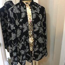 Womens Jacket Cardigan designer Zip Jeanne Alexander Embelished shimmer Dress