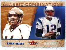 Tom Brady/Brian Griese 2002 Fleer Classic Combinations Card#1649/2000-Patriots