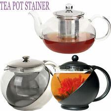 Leaf Tea Pot Infuser Strainer Kettle Heat Resistant Loose Glass Stainless Steel