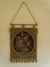 Floral Tapiz colgante de pared mide 12 X 17 Pulgadas; 31 X 43 Cm (borla de poste) v1