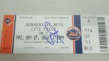 JULIO URIAS SIGNED MLB DEBUT TICKET STUB ROOKIE Autograph JSA Q38670
