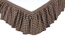 King Red Black Tartan Plaid Bed Skirt Gathered Country Dust Ruffle Bingham Star