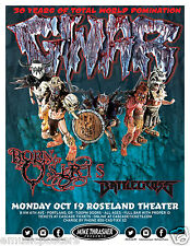 "GWAR ""30 YEARS OF TOTAL WORLD DOMINATION"" 2015 PORTLAND CONCERT TOUR POSTER"
