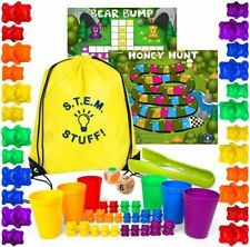 Preschool Activities Counting Bears for Counting, Sorting, Stacking, Colors, 3+