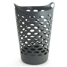 Panier à linge Gris   Plastique Souple   Bac Corbeille Vetements Sale  60 Litres