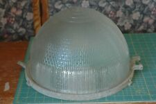 VINTAGe HOLOPHANE ART DECO STREET LIGHT LAMP GLOBE industrial 14'' fixture
