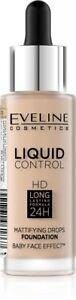 EVELINE Liquid Control podkład matujący/Mattifying foundation 015 Light Vanilla