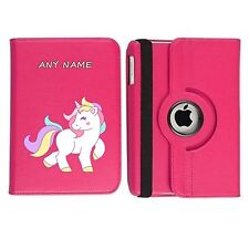 Cute Unicorn 01 Name Personalised iPad 360 Rotating Case Cover Birthday Present
