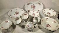 34 PC SET WALBRZYCH CHINA DINNER WARE POLAND 6 PLACE SETTINGS + SERVING PIECES