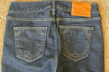 TRUE RELIGION Sample TONY STRAIGHT 26X33 Jeans NWOT$289  Loop Pockets! Stretch!