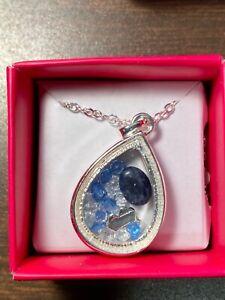 NEW Avon Studio 1886 Healing Stone Shaky Necklace- Sodalite