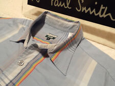 """PAUL SMITH Mens Shirt 🌍 Size M (CHEST 44"""") 🌎 RRP £95+ 📮 ICONIC STRIPED CHECKS"""