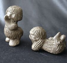 RAMSING Pottery DENMARK Pair of Troll Figurines 1960s