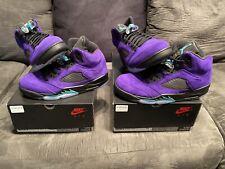 Nike Air Jordan 5 Alternate Grape Sz. 9 Free Shipping 100% Authentic
