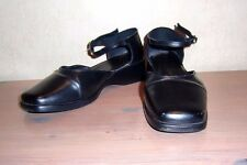 Black Shoes with Ankle Straps Size 5