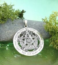I am the Beauty of the Green Earth Moon Pentacle Pendant ONLY - Wiccan Pagan 207