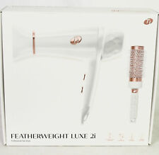 T3 White Color Featherweight Luxe 2i Professional Hair Dryer W/Brush