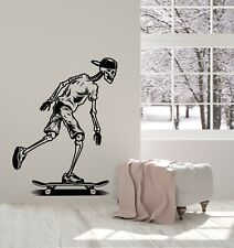 Vinyl Wall Decal Skateboard Extreme Sports Teen Room Skater Stickers (g4798)