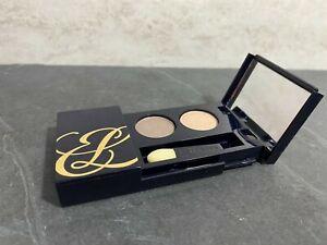 Estee Lauder Pure Color Eyeshadow Duo - SUGAR BISCUIT + TEMPTING MOCHA  Nwob #KJ