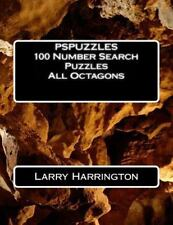 PSPUZZLES 100 Number Search Puzzles All Octagons by Larry Harrington (2014,...