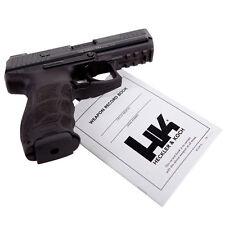 HECKLER & KOCH WEAPON RECORD BOOK PISTOL MANUAL HK USP HK45 P30 MARK23 SP5K VP9