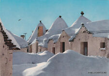 * ALBEROBELLO - Trulli innevati - Cartolina Ordine Vini Enoteca Puglia