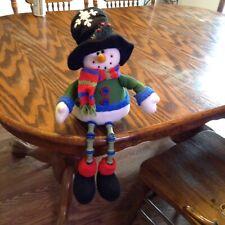 "Christmas Snowman 13"" Stuffed Shelf Sitter Decoration"