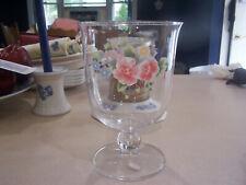 pfaltzgraff tea rose large pedestal candle holder