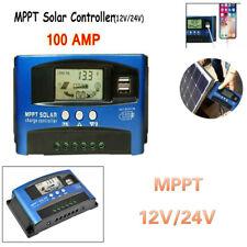 100A 12V/24V USB Batería Solar Panel Regulador Carga Auto Controlador