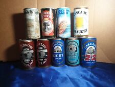 Vintage Australian Beer Cans x9 - c1970s & 80s cascade & other