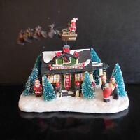 Maison Père Noël électrique fait main vintage art déco design XXe France N3492