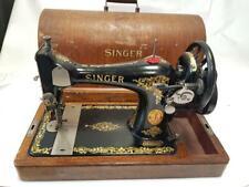 PRECIOSA y antigua maquina de coser SINGER de 1916 +caja FUNCIONA