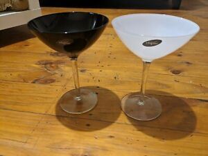 Elipse Black White Martini Glasses Polycarbonate? 17cm Tall