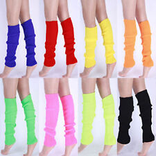 Fashion Women Party Legwarmers Knitted Neon Dance 80s Costume  Lady Leg Warmer t