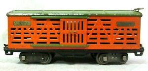 Lionel 513 Standard Gauge Prewar Cattle Car Vintage Model Train Railway B3-6