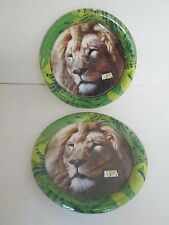 Animal Planet Lion Paper Luncheon Plates 8pk - Lot of 2 Packs  -  Party Supplies
