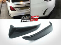 FOR 15-18 Mercedes Benz W205 C43 C63 AMG 4DR BLK Rear Bumper Side Vent Canards