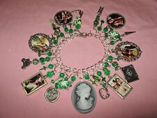 """ KATHERINE PIERCE-1864"" VAMPIRE DIARIES-  ALTERED ART STATEMENT  CHARM BRACELET"