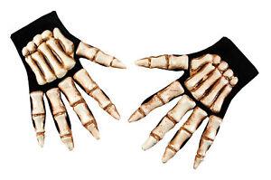 ADULT SKELETON BONEY HANDS GLOVES HALLOWEEN COSTUME ACCESSORY PM342145
