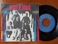"7"" THE ROLLING STONES PAINT IT BLACK 45 GIRI Decca Italy 1966"